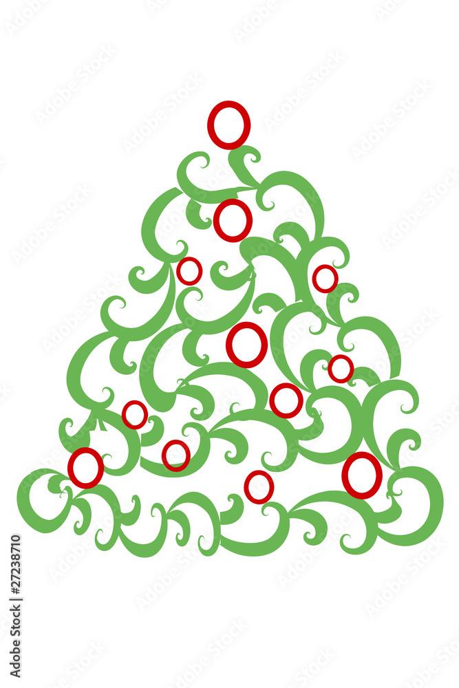 Alberi Di Natale Stilizzati Immagini.Albero Di Natale Stilizzato Wall Mural Wallpaper Murals Roberta M