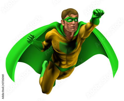 Autocollant pour porte Super heros Amazing Superhero Illustration