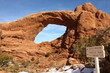 Natural window in Arches National Park in winter, Utah, USA