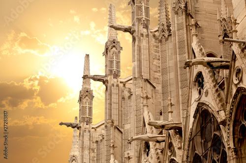 Obraz na płótnie Notre Dame of Paris: North facade detail