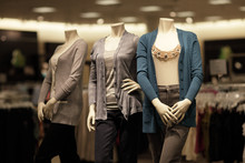 Modern Mannequins At The Mall