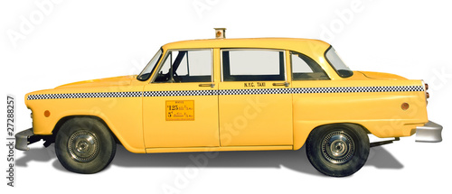 Yellow Taxi Wallpaper Mural