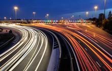 Barrières De Péage Autoroutier De Nuit