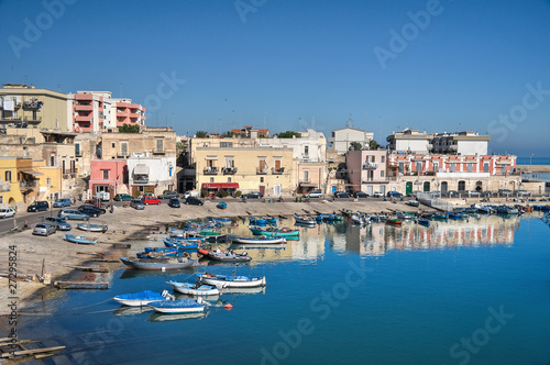 Photo Boats moored at tourist port of Bisceglie. Apulia.
