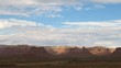 Time lapse Clouds over Valley of the gods (pan-movement)