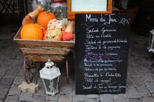 Menu D'un Bouchon Lyonnais, France