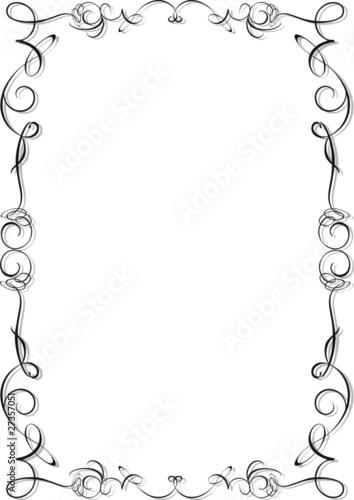Photo sur Aluminium Draw Cornice Ornamentale-Ornamental Frame-Vector