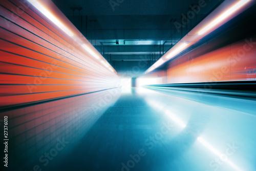 Staande foto Industrial geb. Modern futuristic motion blur interior perspective