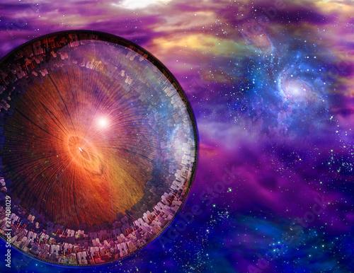 Multi-Generational Interstellar Ship Poster