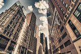 Fototapeta Alley - Skyscrapers of New York City