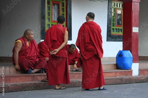 Keuken foto achterwand Bordeaux Moines bouddhistes
