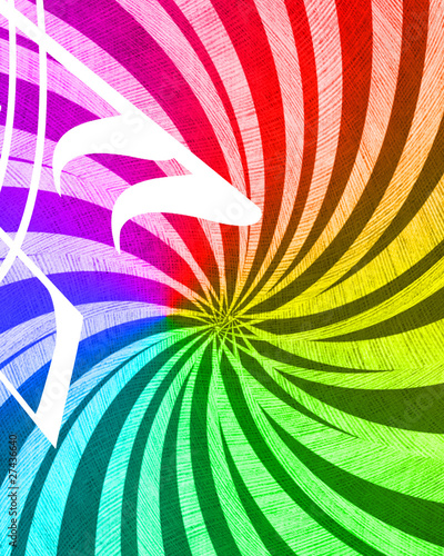 Poster Psychedelic Abstract rays