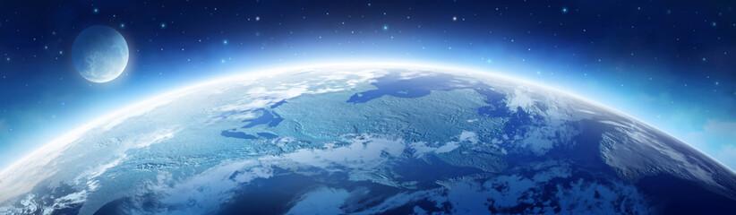 Fototapeta ziemia i księżyc