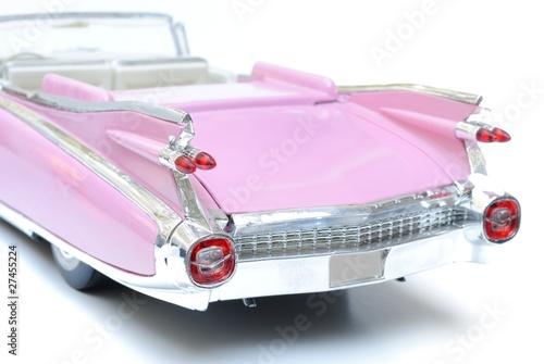 Poster Old cars Pink Cadillac