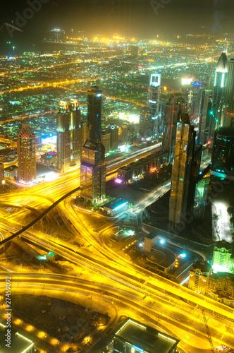 Photo  Panorama of down town Dubai city - UAE