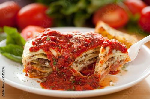 Fotografie, Tablou Italian Meat Sauce Lasagna