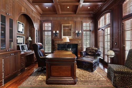 Cuadros en Lienzo Library in luxury home