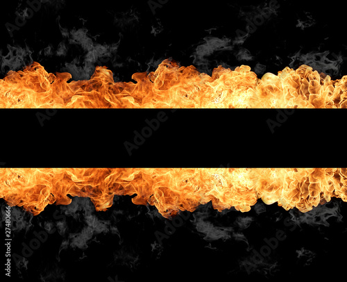 Stickers pour porte Flamme Fire stripe
