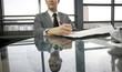 smart business man at desk