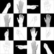 Hands on Black and white squares