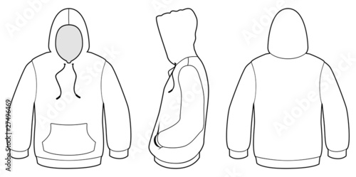 Hooded sweater template vector illustration. - Buy this stock vector ...