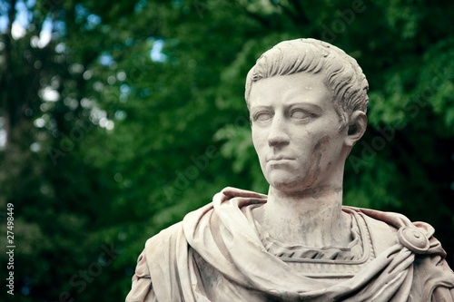 Leinwand Poster Caligula Portrait - Bust of Roman Emperor