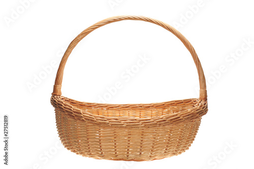 Fotografie, Obraz  Wicker basket With Handle