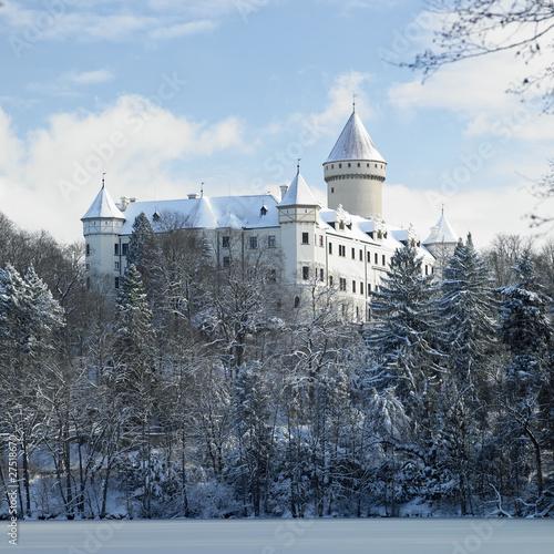 Photo  Konopiste chateau in winter, Czech Republic