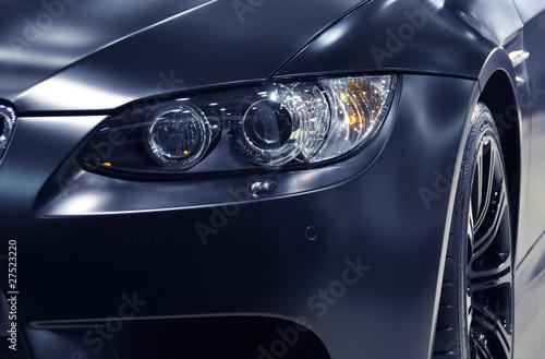 Headlight of a sports car Canvas-taulu