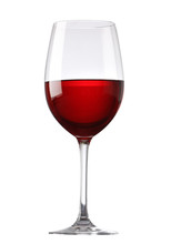 Red Wine Glass Isolated On Whi...