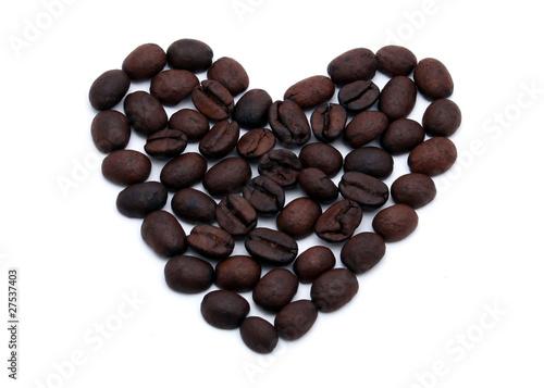 Wall Murals Coffee beans Coffee heart