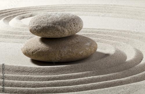 Acrylic Prints Stones in Sand pierres et sable zen japonais