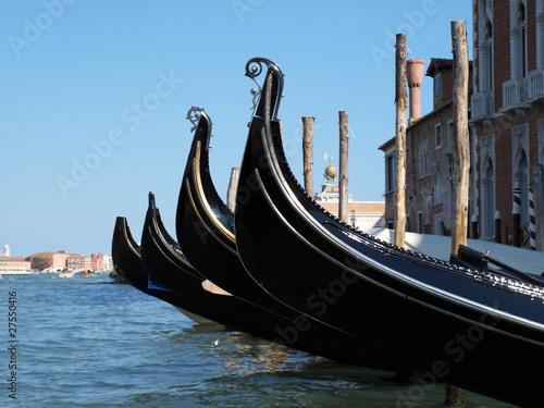 Spoed Foto op Canvas Gondolas Picture of the Venice gondola near San Marco square
