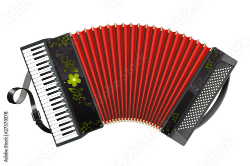 Fotografía  Stretched black Accordion