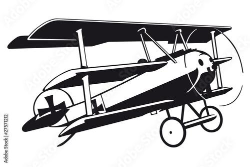 Fokker DR 1 Airplane Wallpaper Mural
