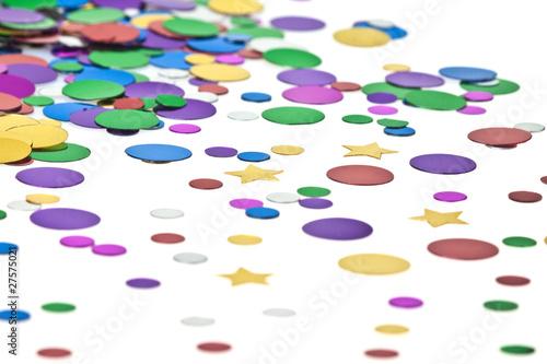 Fototapeta Rainy confetti..White background obraz na płótnie