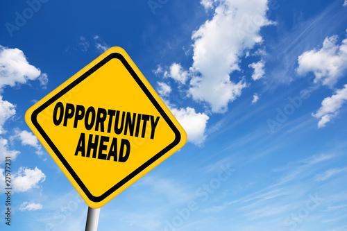 Fotografía  Opportunity ahead sign