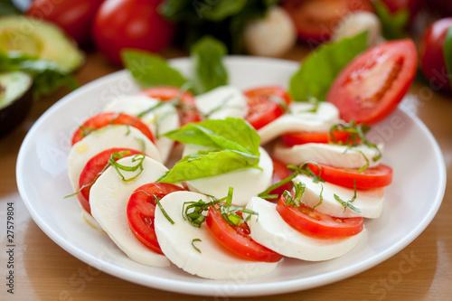 Fotografie, Obraz  Mozzarella and Basil and Tomato 4