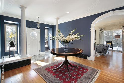 Fotografie, Obraz  Foyer with white columns