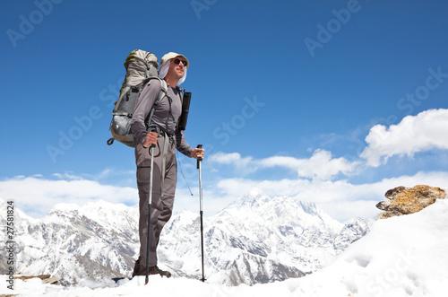 Hike in Himalaya Tapéta, Fotótapéta