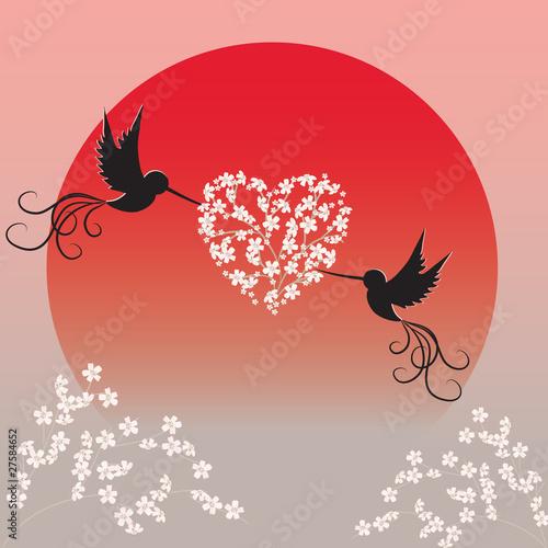 dwa-ptaki-trzymajace-galezie-sakury-w-ksztalcie-serca