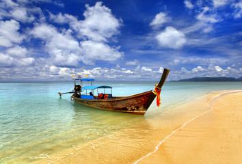 Fototapeta Orientalny Traditional Thai boat, Thailand, Phuket