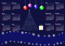 Calendar For Year 2011. Vector.