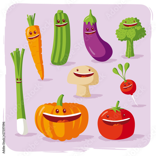 Photo  funny vegetables