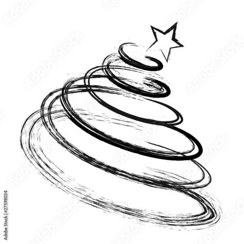 abstrakter tannenbaum  christbaum  weihnachtsbaum