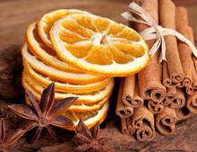 Scheiben Von Getrockneter Oran...