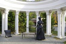 Pillar Garden-hous  In Park. Chelyabinsk.Russia.