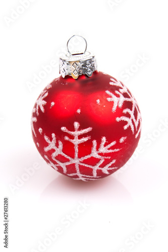 Weihnachtskugel Christbaumschmuck Rot Buy This Stock Photo And