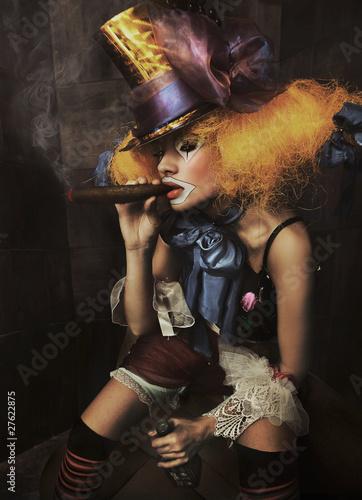 Printed kitchen splashbacks Artist KB Fine art photo of a bad clown