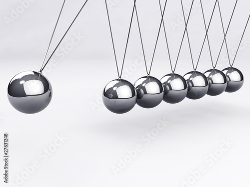 Fotografie, Obraz  Balancing Newton's balls